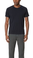 Z Zegna Techmerino Jersey Short Sleeve Crew Tee Navy