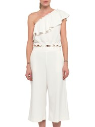 French Connection Ruth Culotte Trousers Summer White