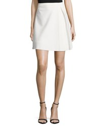 Halston Pleated Structured Skirt Bone