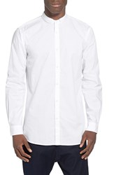 Men's Zanerobe 'Seven Ft' Tuck Collar Elongated Woven Shirt