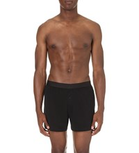 Sunspel Elasticated Cotton Boxers Black