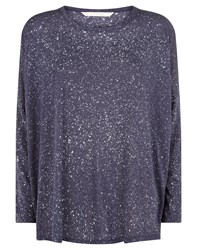 Nougat London Nougat Devore Print Jersey Top Grey