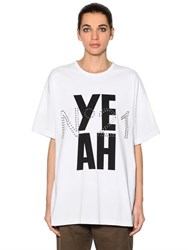 N 21 Oversized Printed Cotton Jersey T Shirt