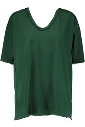 Marni Backless Cotton Jersey Top Emerald