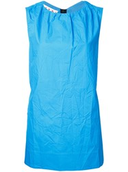 Marni Sleeveless Crinkle Shirt Blue