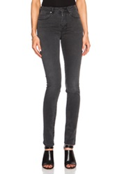 Acne Studios Pin Cotton Blend High Waisted Skinny In Black