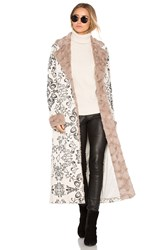 House Of Harlow X Revolve Margeaux Coat With Faux Fur Taupe