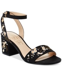 Nanette Lepore By Ruby Two Piece Block Heel Sandals Only At Macy's Women's Shoes Black