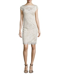 Catherine Deane Cap Sleeve Lace Embroidered Cocktail Dress