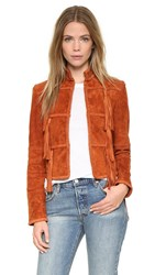 Rachel Zoe Honor Suede Jacket Terracotta