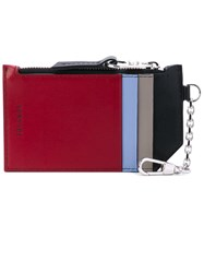 Versace Keychain Cardholder Women Calf Leather One Size Red