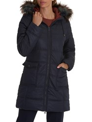 Betty And Co. Hooded Down Coat Mood Blue