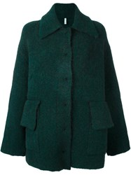Boboutic Single Breasted Coat Green