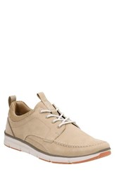 Clarksr Men's Clarks Orson Bay Sneaker Sand Nubuck Leather