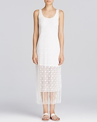Profile By Gottex Charleston Crochet Fringe Maxi Dress