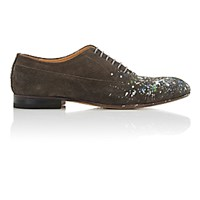 Maison Martin Margiela Men's Paint Splatter Detailed Cap Toe Balmorals Dark Grey