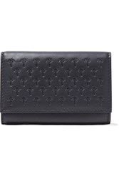 Tomas Maier Embossed Leather Wallet Navy