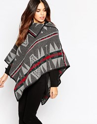 Wal G Blanket Cape Grey