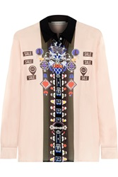 Mary Katrantzou Gala Printed Silk Georgette Shirt