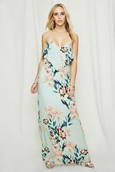 Forever 21 Pretty By Rory Floral Cami Dress Seafoam Multi