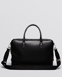 Salvatore Ferragamo Revival Leather Brief Black