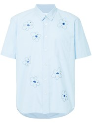 Jimi Roos Floral Short Sleeve Shirt Blue