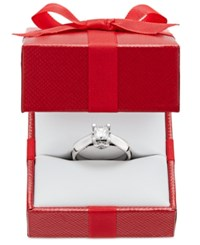 Macy's Certified Diamond Solitaire Engagement Ring 3 4 Ct. T.W. In 14K White Or Two Tone Gold White Gold