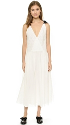 Band Of Outsiders Gauze And Lace Dress Ivory