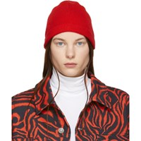 Calvin Klein 205W39nyc Red Ribbed Beanie