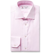 Turnbull And Asser Pink Slim Fit Woven Cotton Shirt Pink