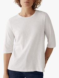 Toast Emma Cotton Half Sleeve T Shirt Chalk White