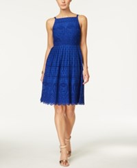 Charter Club Cotton Lace Halter Dress Only At Macy's Modern Blue