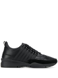 Dsquared2 Leather Striped Sneakers Black