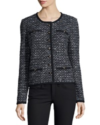 St. John Long Sleeve Mod Jacket W Contrast Seams Black