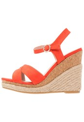 Dorothy Perkins Roxy Wedge Sandals Red