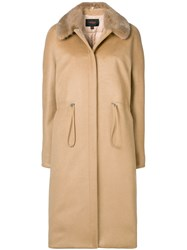 Giambattista Valli Fitted Midi Coat Neutrals