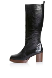 Topshop Pop Art Limited Edition Leather Boots Black