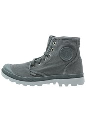 Palladium Pampa Laceup Boots Turbulence High Rise Dark Gray