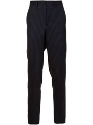 Umit Benan Pinstriped Trousers Blue