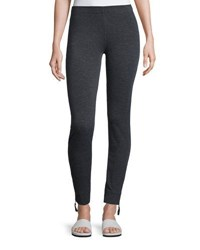 Max Studio Soft Knit Terry Pants Charcoal N