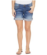 Kut From The Kloth Petite Catherine Boyfriend Short In Feminine Wash Feminine Wash Women's Shorts Blue