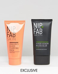 Nip Fab And Asos Exclusive Hydrate And Prime Viper Venom Micro Blur And Dragons Blood Mask Hydrate And Prime Clear