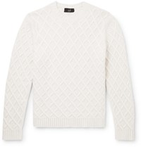 Dunhill Cable Knit Cashmere Sweater Neutrals