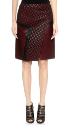 J. Mendel Knee Length Asymmetrical Skirt Ruby Noir