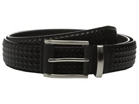 Stacy Adams Fidello 35Mm Diamond Embossed Belt Black Men's Belts
