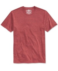 American Rag Men's Solid Tri Blend Big And Tall T Shirt Weathered Red