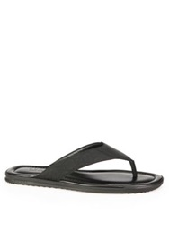 Gucci Rubberized Leather Gg Thong Flip Flops Black