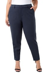 Liverpool Plus Size Kelsey Ponte Knit Trousers Night Sky Blue