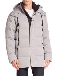 Andrew Marc New York Debossed Down Parka Haze Multi