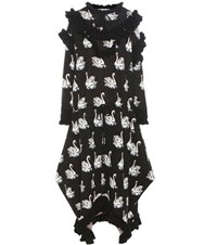 Stella Mccartney Printed Knitted Wool Dress Black
